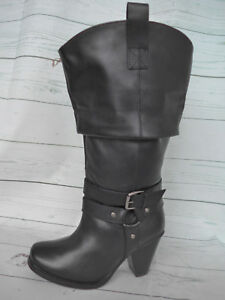 Sheego Boots XXL Wide Calf Boots Size 37 Black New (085)