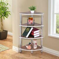 4-Tier Corner Shelf Wall Mount Bookcase Storage Rack Plant Stand Home Furniture