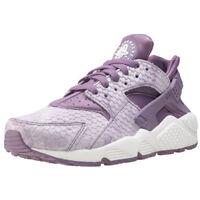 Womens Nike Air Huarache Run Premium Leather & Textile Blue Shoes Trainers