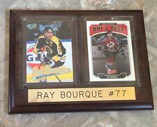 Ray Bourque Plaque #77-Hall Of Fame Defenseman-Boston Bruins/Colorado Avalanche