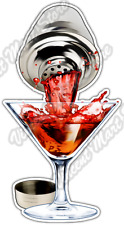 "Shake Pour Shaker Alcohol Drink Bartender Car Bumper Vinyl Sticker Decal 3""X6"""