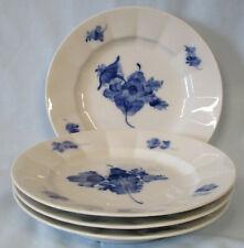 Royal Copenhagen Pattern 10 Blue Flower Salad Plate Set of 4