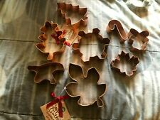 New listing Assortment of copper cookie cutters