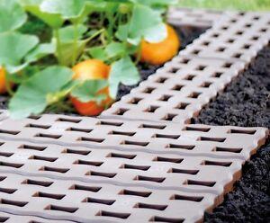 Gartenplatten Beetplatten Bodenplatten Gehweg 0,95 qm² 4,8m 8 Stück
