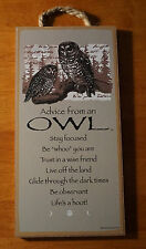 ADVICE FROM AN OWL- BE WHOO YOU ARE - TRUST A WISE FRIEND - Home Decor Sign NEW