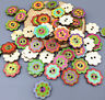 Mixed 2 Holes Wooden Buttons Flower Fit Sewing Scrapbooking Clothing accessories