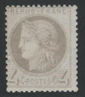 """FRANCE STAMP TIMBRE N° 52 a """" CERES 4c GRIS-JAUNATRE 1872 """" NEUF xx TB  K443A"""