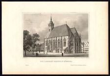 Antique Print-WESTPHALIA-MUNSTER-LAMBERTI CHURCH-GERMANY-Schucking-Mayer-1872