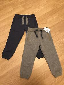 Boys Mini Club Set Of 2 Jersey Joggers Trousers 2-3 Years BNWT