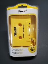 New iWorld Cassette Adapter ipod iphone Mp3 Compatible 2015 Plug And Play yellow