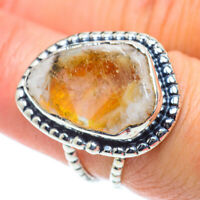 Citrine 925 Sterling Silver Ring Size 7.25 Ana Co Jewelry R55604F