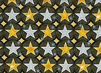 BTY Kanvas HOLLYWOOD STARS Gold Print 100% Cotton Quilt Craft Fabric by Yard