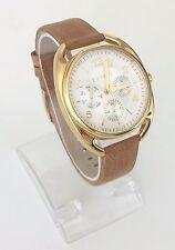 Esprit Damen Uhr Annie braun gold Leder Steine Datum Wochentag 24h ES108172002