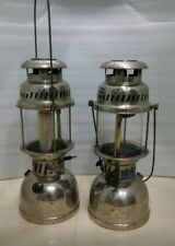 Vintage petromax light kerosene brass light germany Cock mark lantern 2 piece