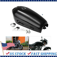 Glossy Motorcycle 9L 2.4GAL Fuel Gas Tank Cap Switch For Honda CG125 Cafe