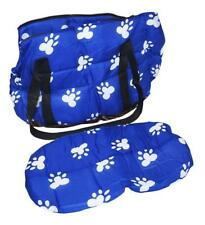 NEW PET CARRIER DOG CAT SMALL CRATE TOTE ANIMAL BAG PURSE BLUE PAW KENNEL CAGE