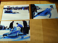 Vintage Arctic Cat Snowmobile Boss Cat I Sled Speed Run Race Pictures LOT Of 3