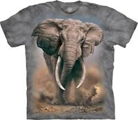 The Mountain Unisex Adult African Elephant Animal T Shirt