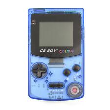 "GB Boy Colour Handheld Console for Gameboy Color Game 2.7"" Backlit Crystal Blue"