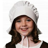 Childrens Fancy Dress Poor Victorian Bonnet Kids Hat Book Day White New