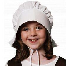 Childrens Fancy Dress Poor Victorian Bonnet Kids Hat Book Day White New