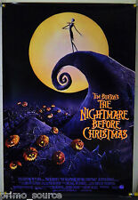 THE NIGHTMARE BEFORE CHRISTMAS DS ROLLED ORIG 1SH MOVIE POSTER TIM BURTON (1993)