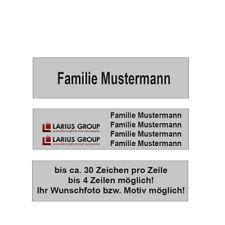 Türschild, Namensschild, Klingelschild, Briefkastenschild, 60x20mm, inkl. Gravur