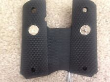Colt OEM 1911  Full Size Black Rubber Wraparound Grips with SILVER  Colt Logo