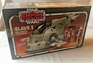 Vintage Star Wars ESB Slave 1 vehicle, 1981, complete, boxed, original, superb