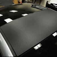 100*40cm 3D Car Panel Black Carbon Fiber Wrap Sticker Universal Accessories