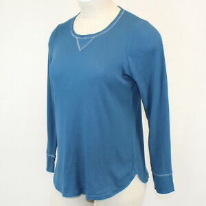 Cacique by Lane Bryant Plus Blue Soft Cozy Thermal Lounge Pajama Top Size 26/28