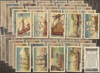 MURRAYS-FULL SET- THE STORY OF SHIPS (50 CARDS) - EXC