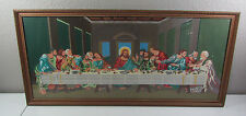 Vintage MCM Painting PBN Paint By Number The Last Supper Finished Framed