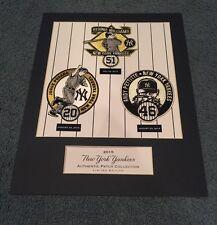 NY Yankees Legacy Club Limited Retirement Patch 11x14 Bernie Pettitte Posada SGA