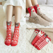 Cartoons Womens Christmas Socks Japanese Casual Comfort Knit Cotton Sock Girls