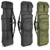 "47"" Tactical Scoped Rifle Soft Padded Case Bag Gun Storage Hunting Black Green"