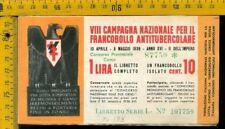 Libretto erinnofilo antitubercolare tv 178