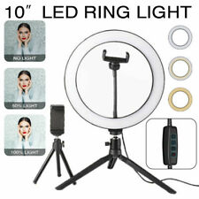 LED Ring Light Live Makeup Video Photo With Desk Tripod Phone Holder youtube UK