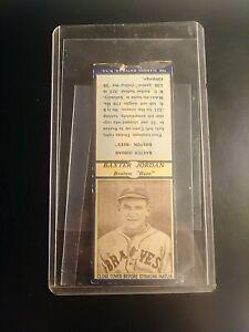 "1937 Diamond Match cover Baseball Baxter Jordan Boston ""bees"" Braves Blue rare"