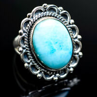Large Larimar 925 Sterling Silver Ring Size 6.75 Ana Co Jewelry R982624F