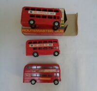 Vintage Budgie AEC Routemaster & 2x Lone Star Routemaster London Bus - Playworn
