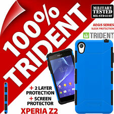 Trident Aegis Protective Case Rugged Cover + Screen Protector for Sony Xperia Z2