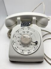 Vintage Rotary Dial Phone White Bell System Western Electric