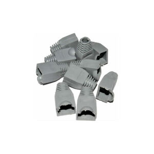 Kenable RJ45 Boots for Networking Cables 6mm Entry Grey Connector Cover 10 Packs