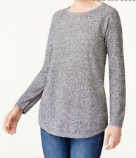 KAREN SCOTT Cotton curved-hem sweater jumper winter XL brand new with tags