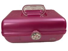 Vintage Caboodles Mirror Pink Glitter Makeup Case Cosmetic Pageant 2622