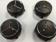 Mercedes AMG Style Roue Alliage Centre Center Caps Noir Centre Lock Design 75 mm