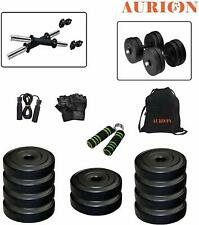 PVC Dumbbell Combo Leather Home Gym and Fitness Kit- Weight 12 kg