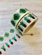2 Rolls Succulents Cactus  Washi Tape Decorative Planner Papercraft Bujo Supply