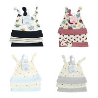 Pack of 3 Baby Boys Girls Hat 100% Cotton Knotted & Beanie Hats Set 0-9 Months